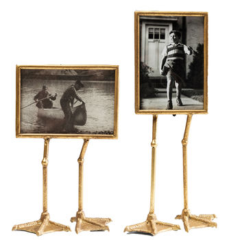 Pair Of Gold Duck Feet Photo Frames