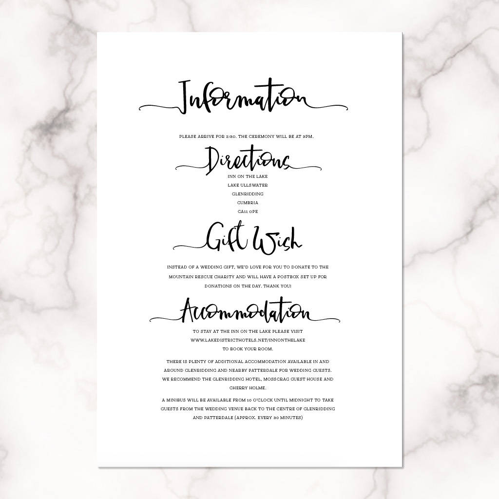 letter lovers modern calligraphy wedding invitation by by moon ...