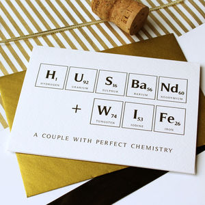 Perfect Chemistry Wedding Card - wedding, engagement & anniversary cards