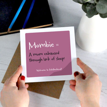 Mombie: Humorous Mum Definition Card