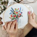 'Everlasting Flowers' Make Your Own Embroidery Kit