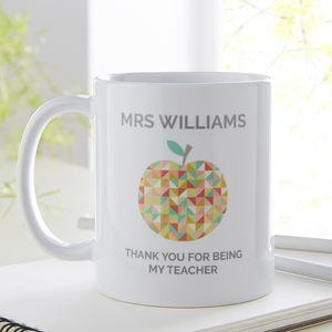 Personalised Teacher Gift - mugs