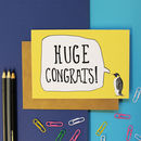 Penguin Congratulations Card