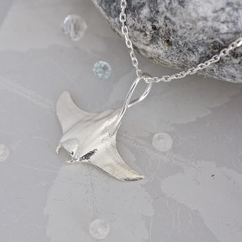 Sterling Silver Manta Ray Necklace