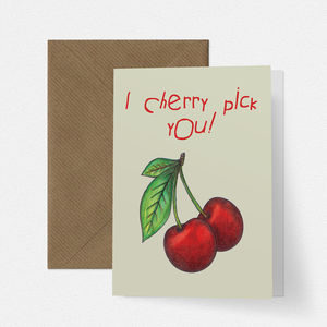Cherry Pick Cute Valentines Card