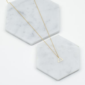 Mini Single Triangle Necklace