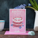 Happy Birthday Cake Card Can Be Personalised