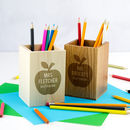 Personalised Best Teacher Pencil Pot