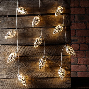20 Silver Pinecone Fairy Lights - fairy lights & string lights