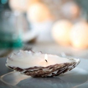Oyster Candles Gift Boxed Set - home accessories