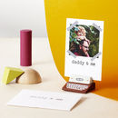 Personalised Daddy And Me Photo Card Gift