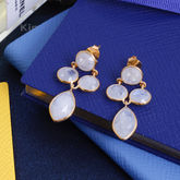 Moonstone Drop Earrings - fine jewellery
