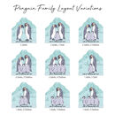 Penguin Family Layered Hanging Decoration