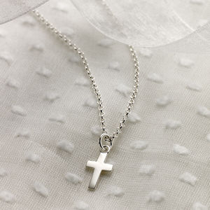 Childs Christening Cross Necklace