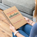 Personalised New Adventure Travel Journal Notebook
