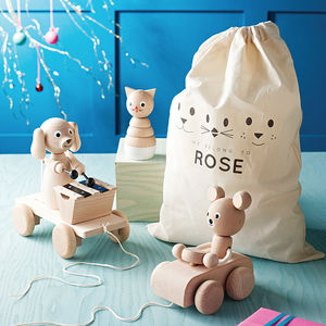 Personalised Toy Bag Bundle - christening gifts