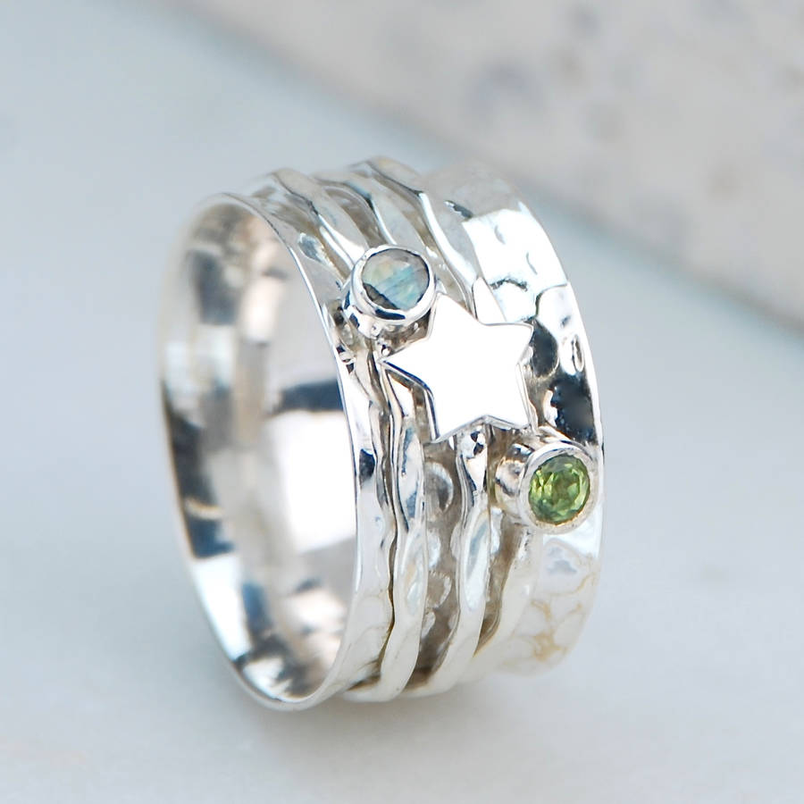 heavenly sterling silver spinning ring by penelopetom