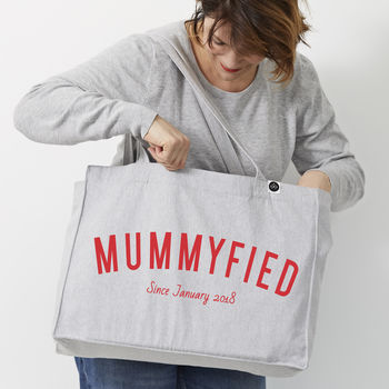 Personalsied 'Mummyfied' Large Tote Bag