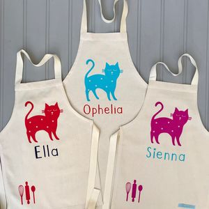 Personalised Baking Cat Apron - winter sale