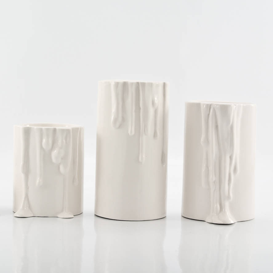 Porcelain Candle Holders Set Of Four