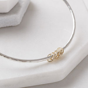 Personalised Gold Rings Bangle - bracelets & bangles