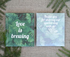 Forest Fern Tea Wedding Favour - wedding favours