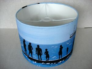 Seaside Painting Drum Lampshade
