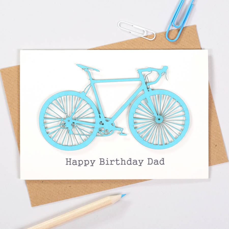 personalised cyclists papercut bicycle birthday card by bombus – Birthday Cards Personalised