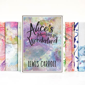 Alice In Wonderland Book Cover Print