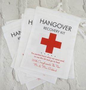 Hangover Recovery Bag For Weddings/Corporate Events - wedding favours