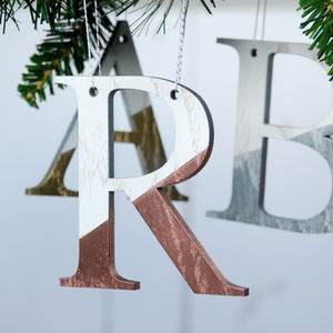 Personalised Metallic And White Letter Decorations