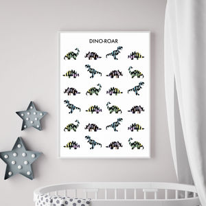 Children's Dinosaur Print