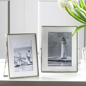 Silver Plated Easel Photo Frame