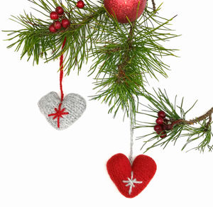 Christmas Heart Knitting Kit - decoration making kits