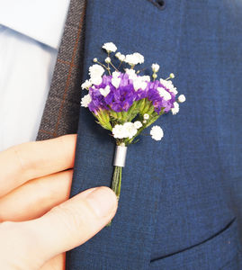 Flower Chute Groom's Pin