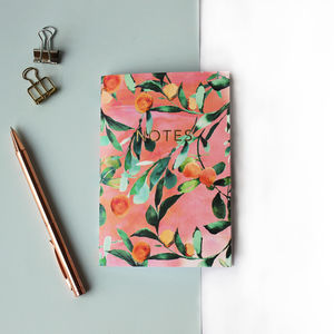 Citrus Orange Tree A6 Notebook With Gold Foiling