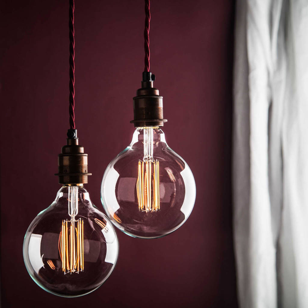 large globe led filament bulb e27 and b22 by factorylux. Black Bedroom Furniture Sets. Home Design Ideas