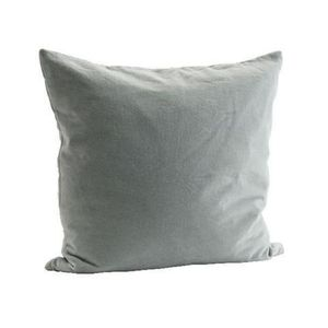 Blue Grey Velvet Cushion Cover