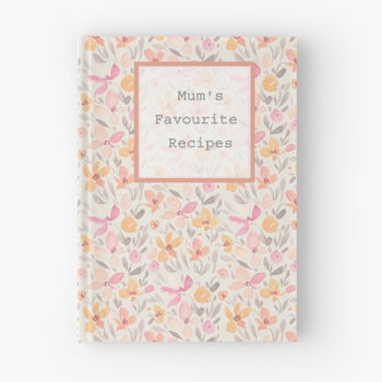 Floral Patterned Personalised Hardback Notebook