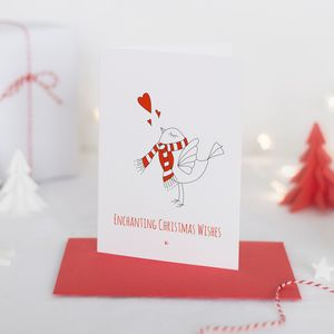 Pack Of Four Personalised Scandi Christmas Cards