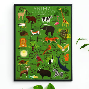 'Animal Alphabet' Art Print