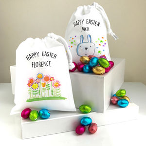 Easter Gift With Chocolate Eggs