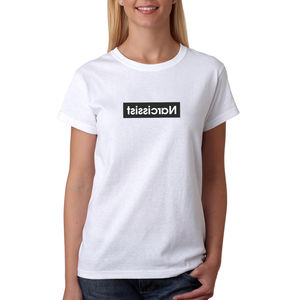 Womens Narcissist Organic Cotton T Shirt - women's fashion
