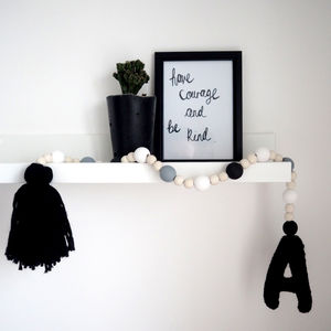 Personalised Initial Garland - children's room