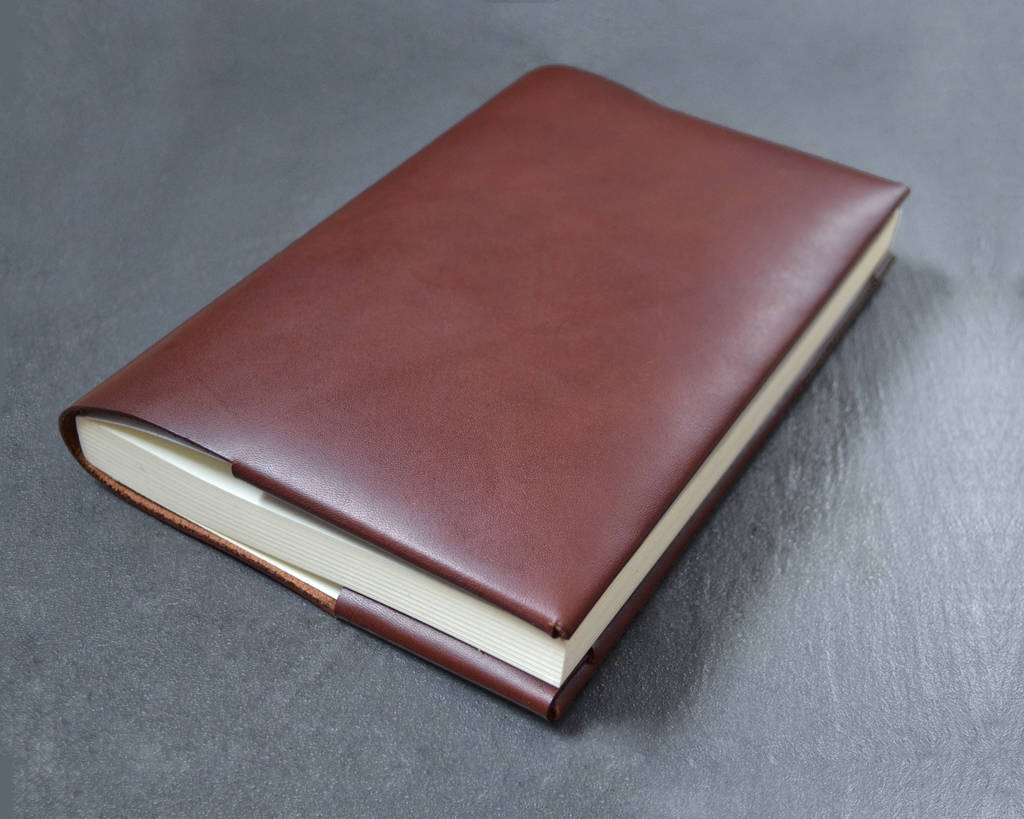 a5 refillable leather journal / notebook cover by bond & knight ...