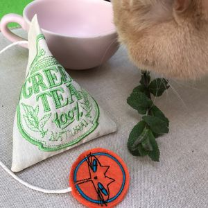 Catnip Green Tea Bag, Cat Toy