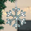 Set Of Three Handmade Snowflake Christmas Tree Baubles