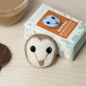 Barn Owl Brooch Needle Felting Craft Kit