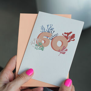 60th Birthday, Ocean Milestone Age Card