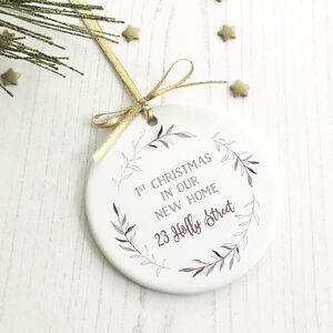 First Christmas Personalised Xmas Bauble